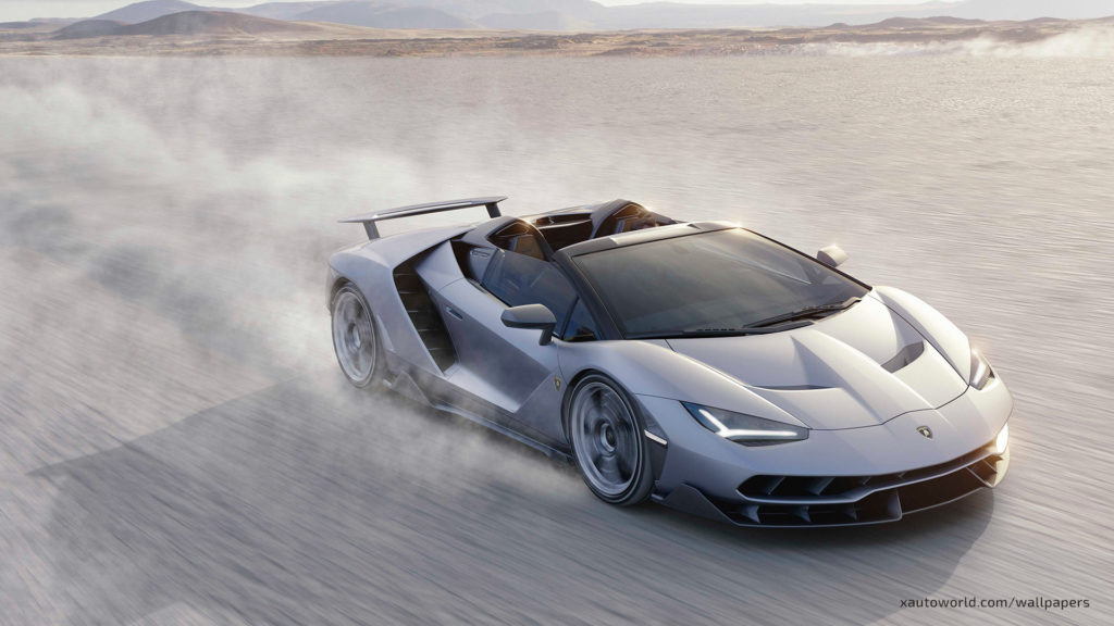 Centenario Roadster Wallpaper - Front Roaring