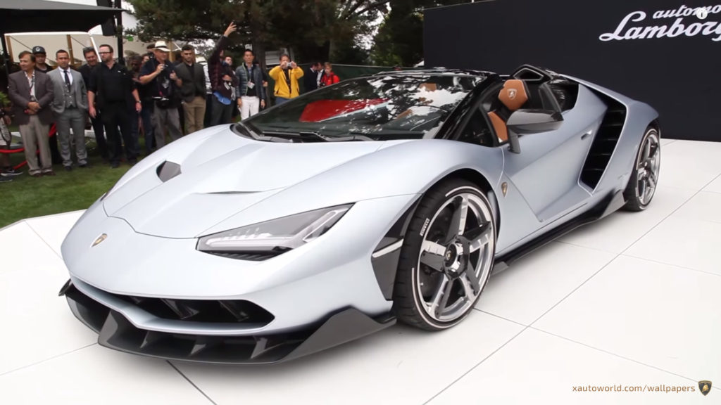 Centenario Roadster Wallpaper - Silver Front View