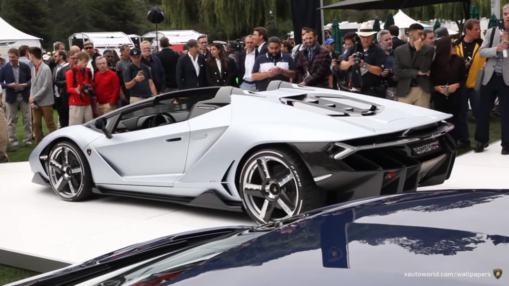 Centenario Roadster Wallpaper - Silver Rear View