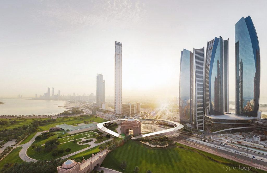 Etihad Towers Hyperportal, Aerial View, Abu Dhabi