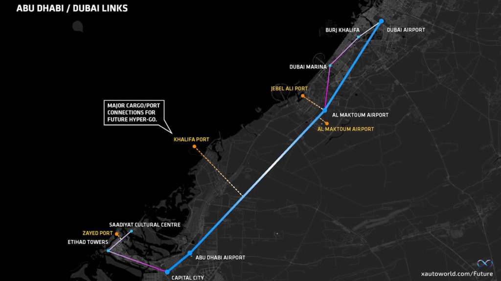 Hyperloop Dubai Route Map