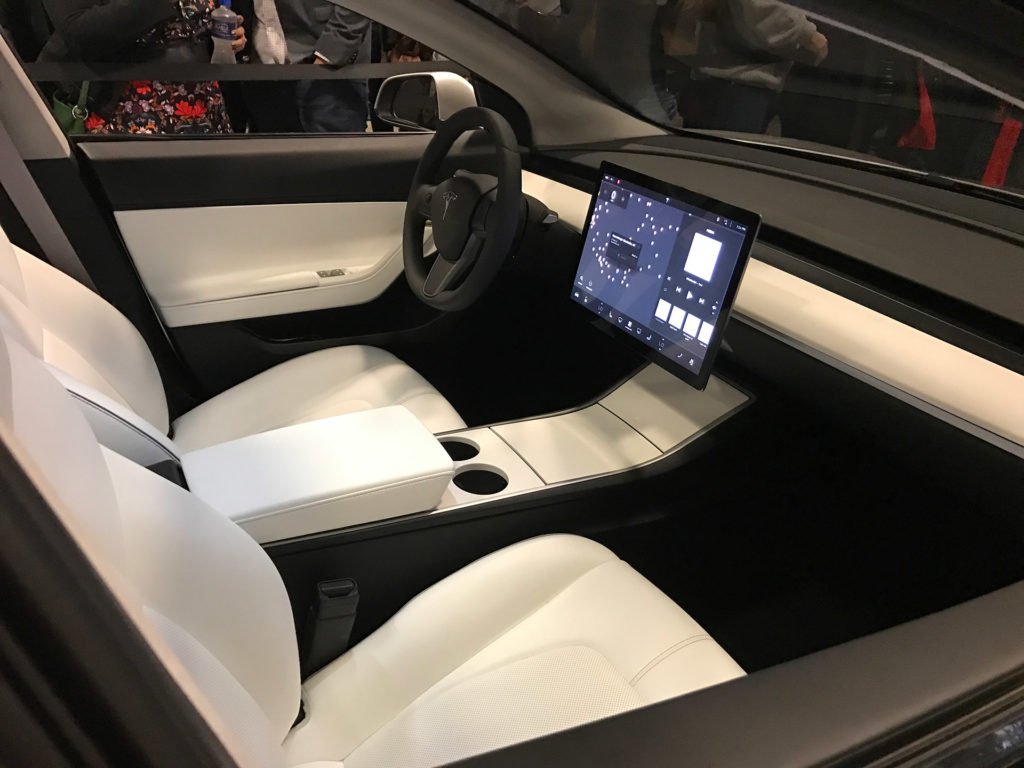 Tesla Model 3 Glassroof Interior Detail