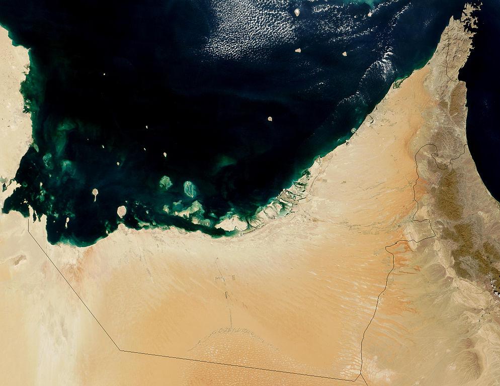 Satellite Image of the UAE Region - Home To Hyperloop Dubai