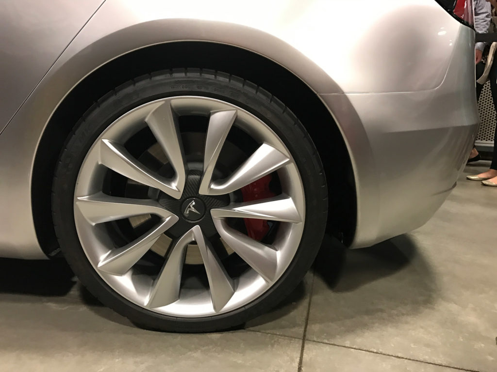 Tesla Model 3 Glassroof Wheel Closeup