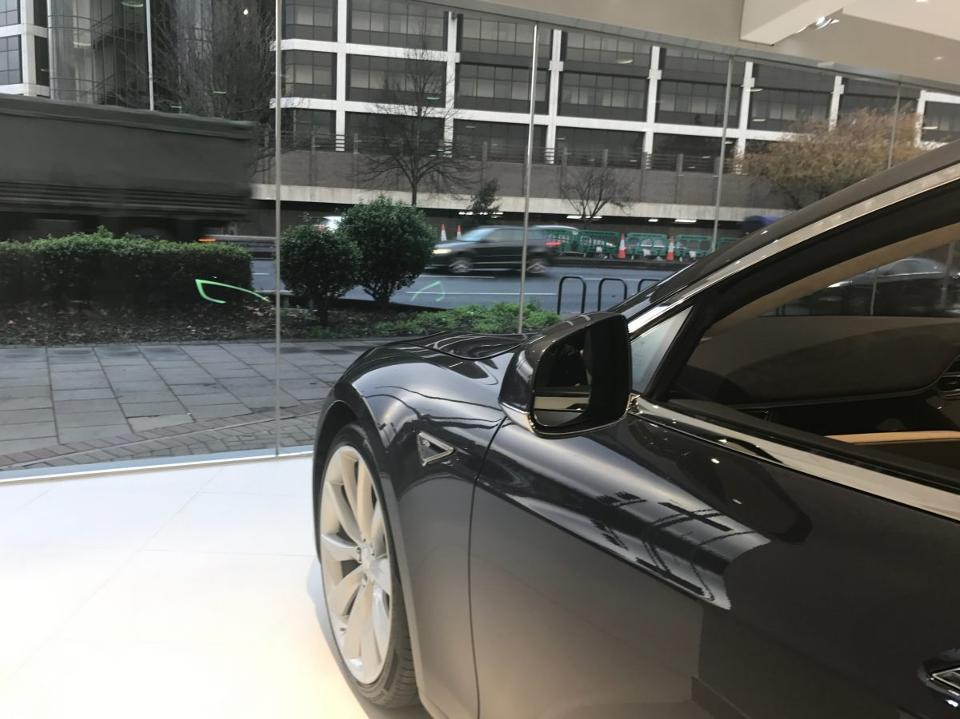 Model S in Tesla Chiswick London Showroom