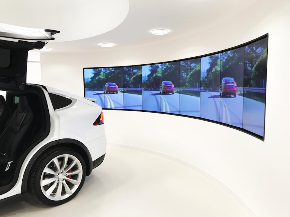 Model X in Chiswick London Showroom
