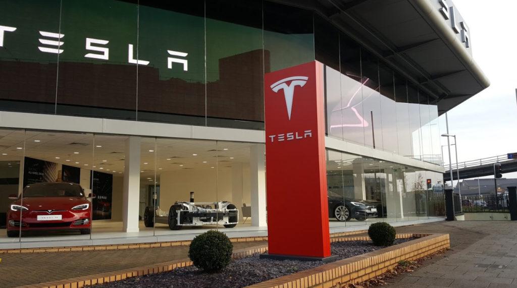 Dual Motor Model S Rolling Chasis at Tesla Showroom Chiswick London