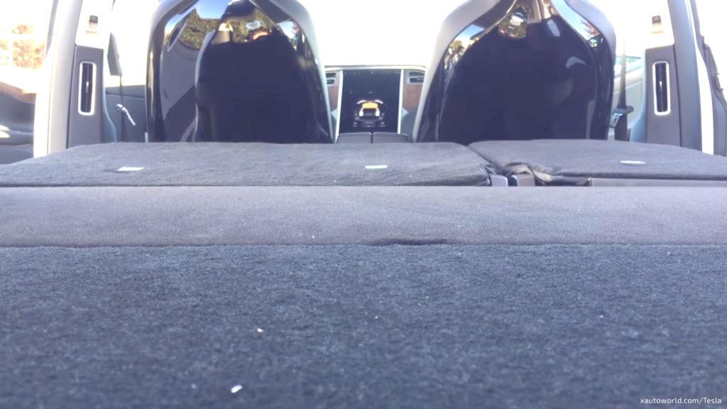 Tesla Model X 5 Seat Configuration - 2nd Row Flat View