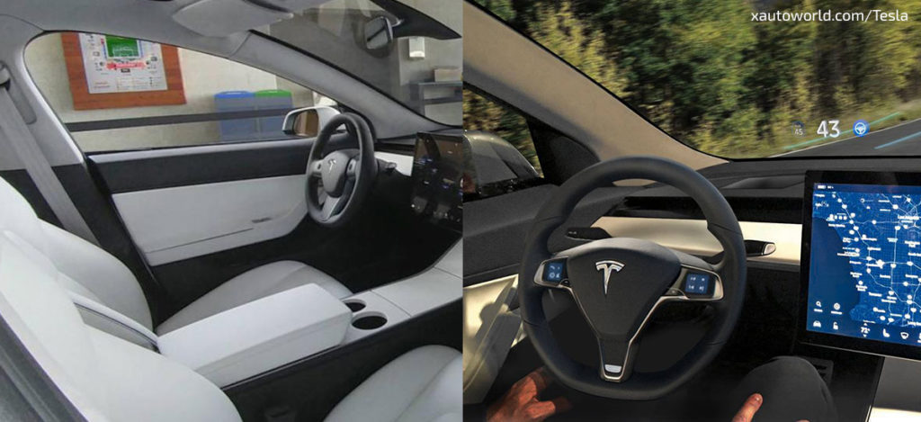 Model 3 HUD and New Interior Leaked Photos