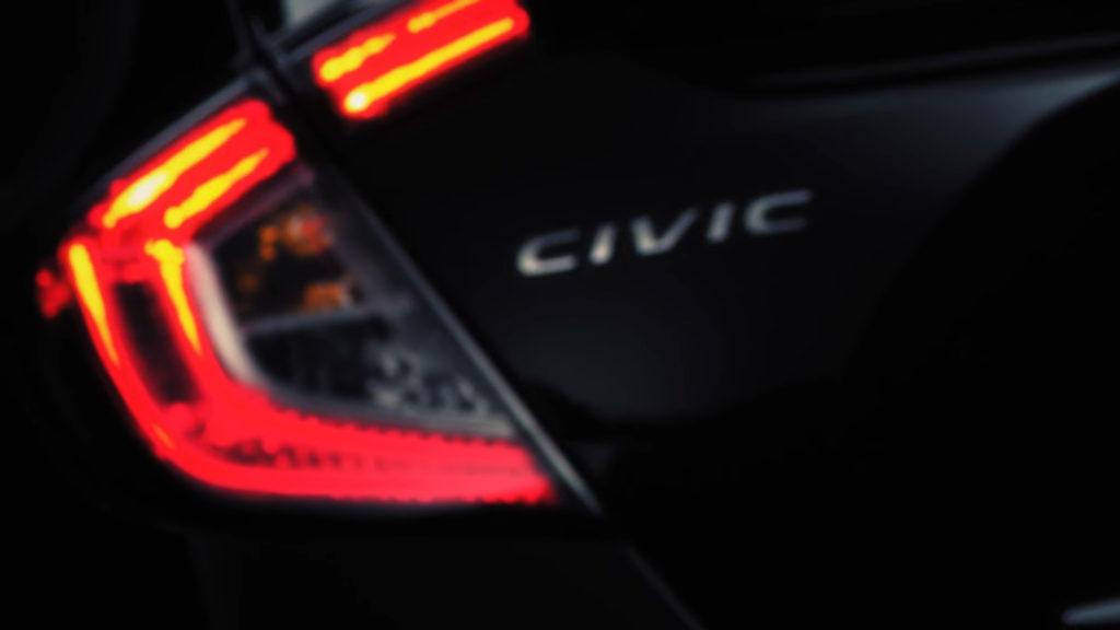 Civic 5 Door Hatchback - Rear Light Blurred