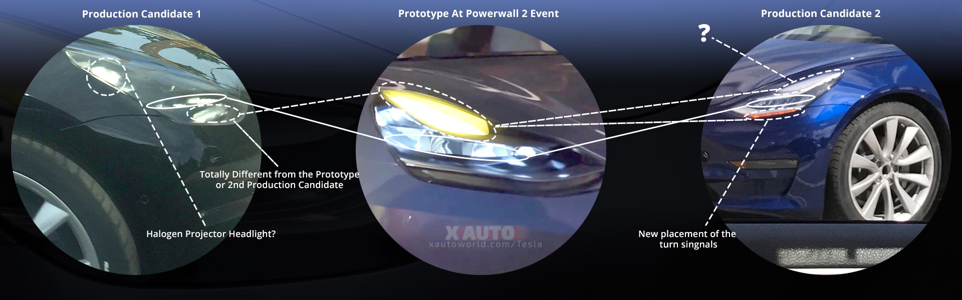 Model 3 Headlights - From Prototype To Production Candidate