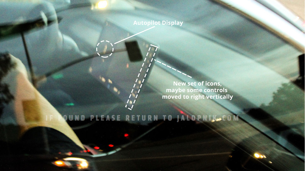 Model 3 production candidate autopilot display