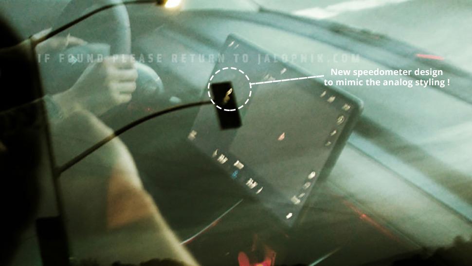 Model 3 center screen speedometer