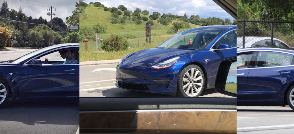 All Leaked Spy Shots Blue Model 3