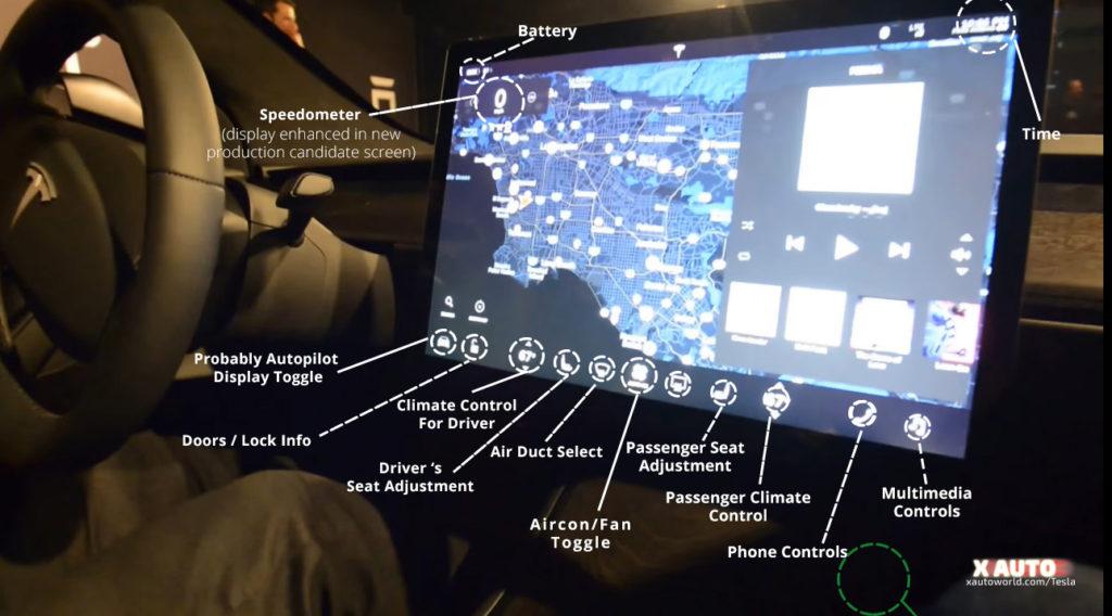 Model 3 User Interface - Speedometer, Autopilot etc.