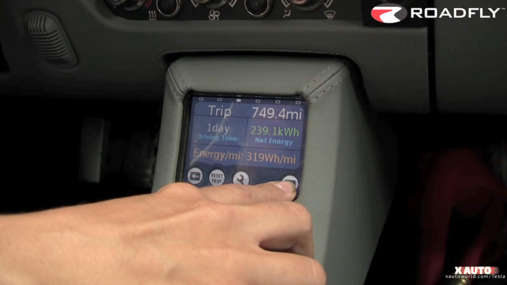 First Gen Tesla Roadster Info Display Screen