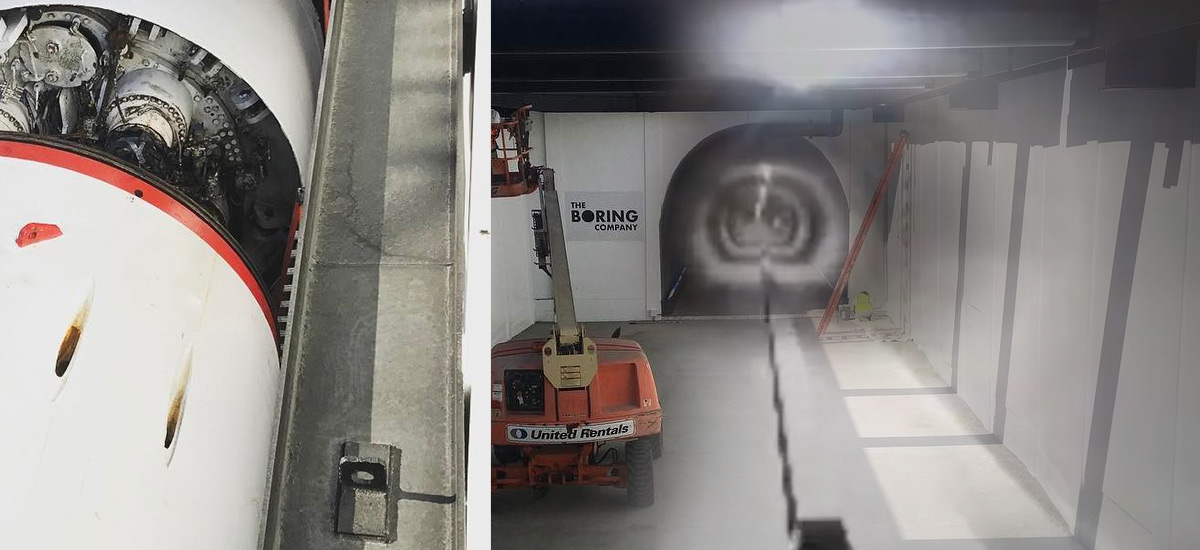 The Boring Company's first work by Godot
