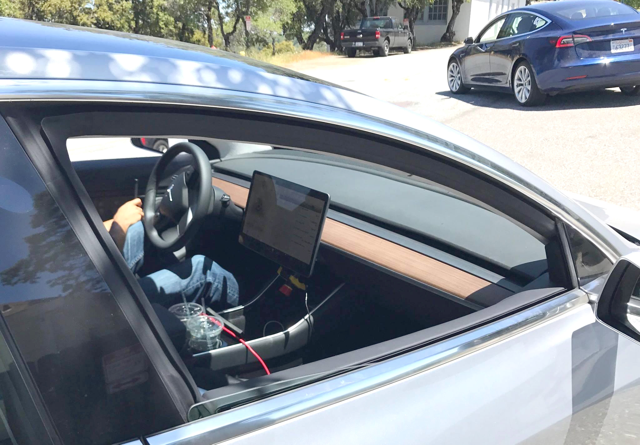 Model 3 Interior first spy HD photo