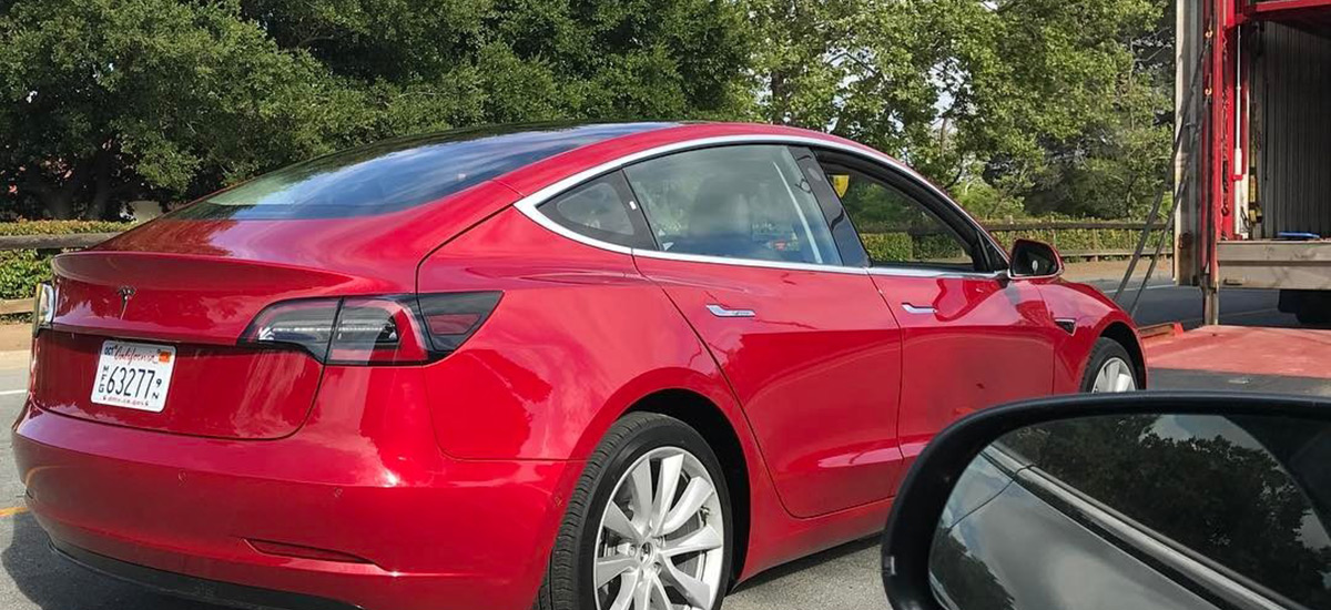 Model 3 release candidate in Red