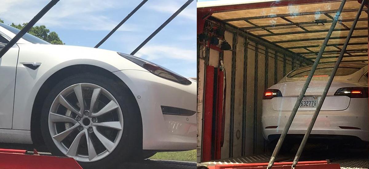 High Res closeup shot of Tesla Model 3 Wheel