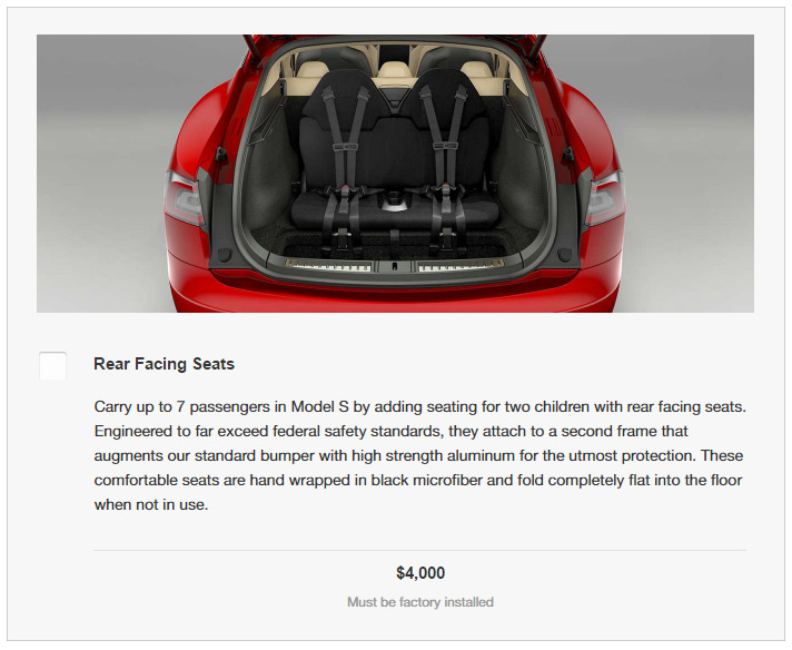 Tesla Design Studio - Model S Rear Facing Seats