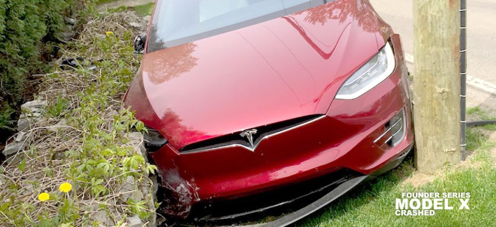 Founder Series Model X crashed in Canada