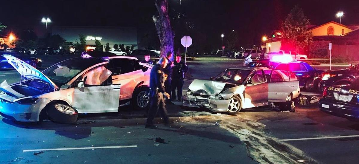 Man survives a fatal crash credits Model X