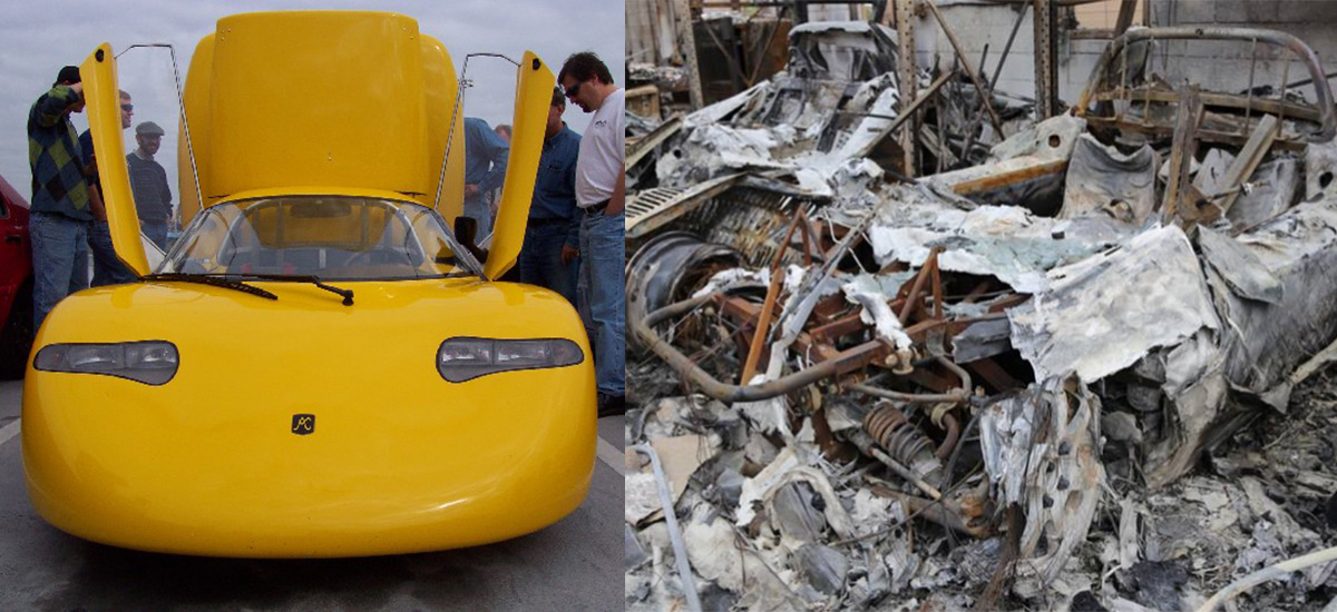 Original T Zero and Roadsters burned in fire