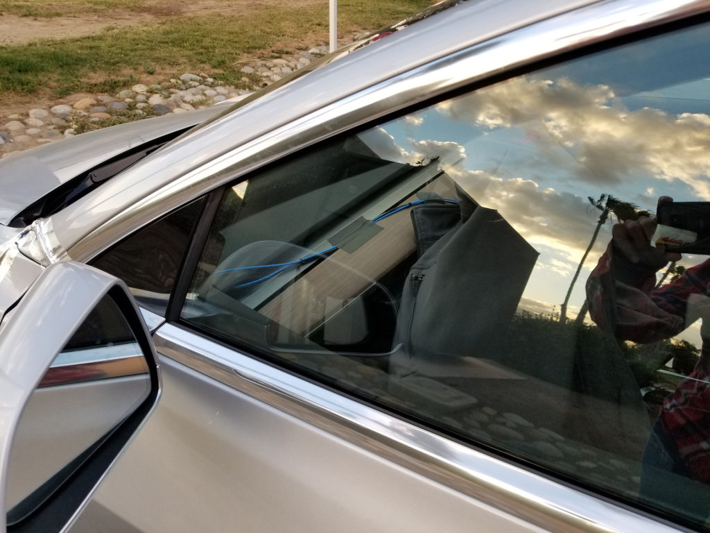Tesla Model 3 Interior Glimpse - Spotted at Harris Ranch, CA