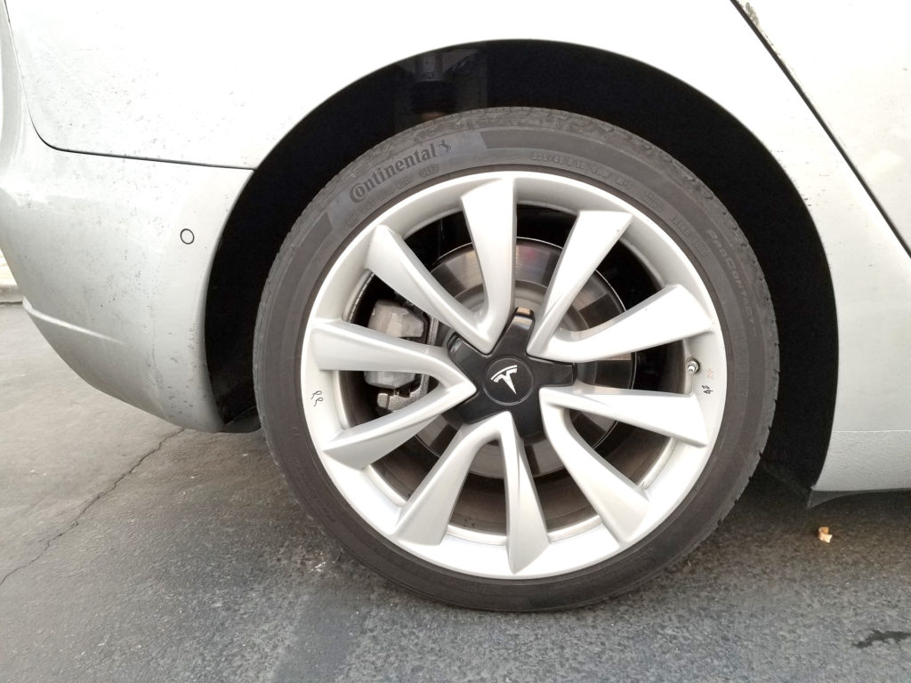Tesla Model 3 Rear Wheel - Spotted at Harris Ranch, CA
