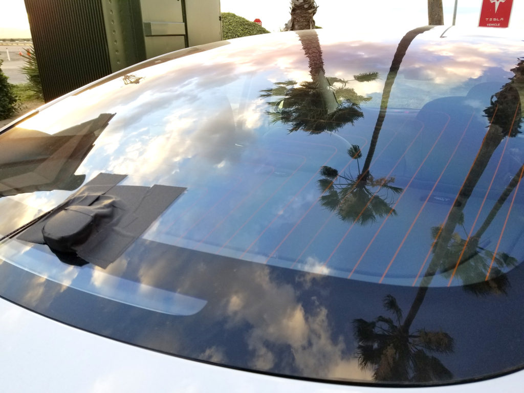 Tesla Model 3 Rear Window - Spotted at Harris Ranch, CA