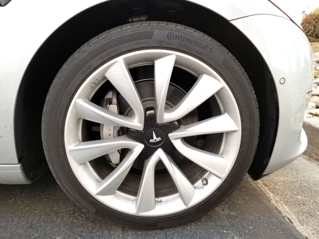 Tesla Model 3 Front Wheel - Spotted at Harris Ranch, CA