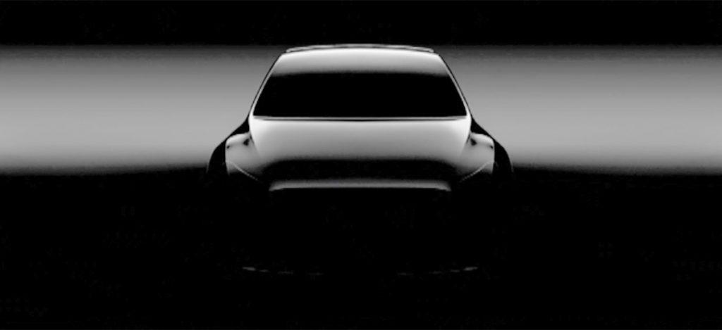 First teaser photo of Tesla Model Y