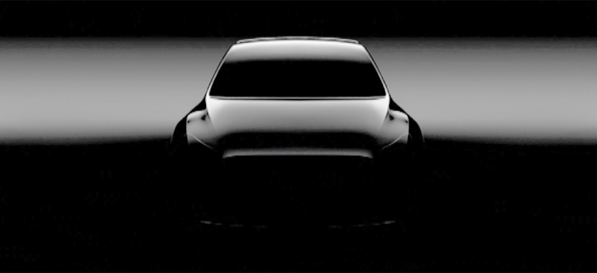 First teaser photo of Tesla Model Y