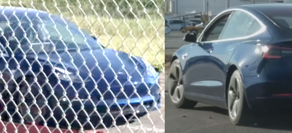 Tesla Model 3 spotted while testing at Fremont Factory