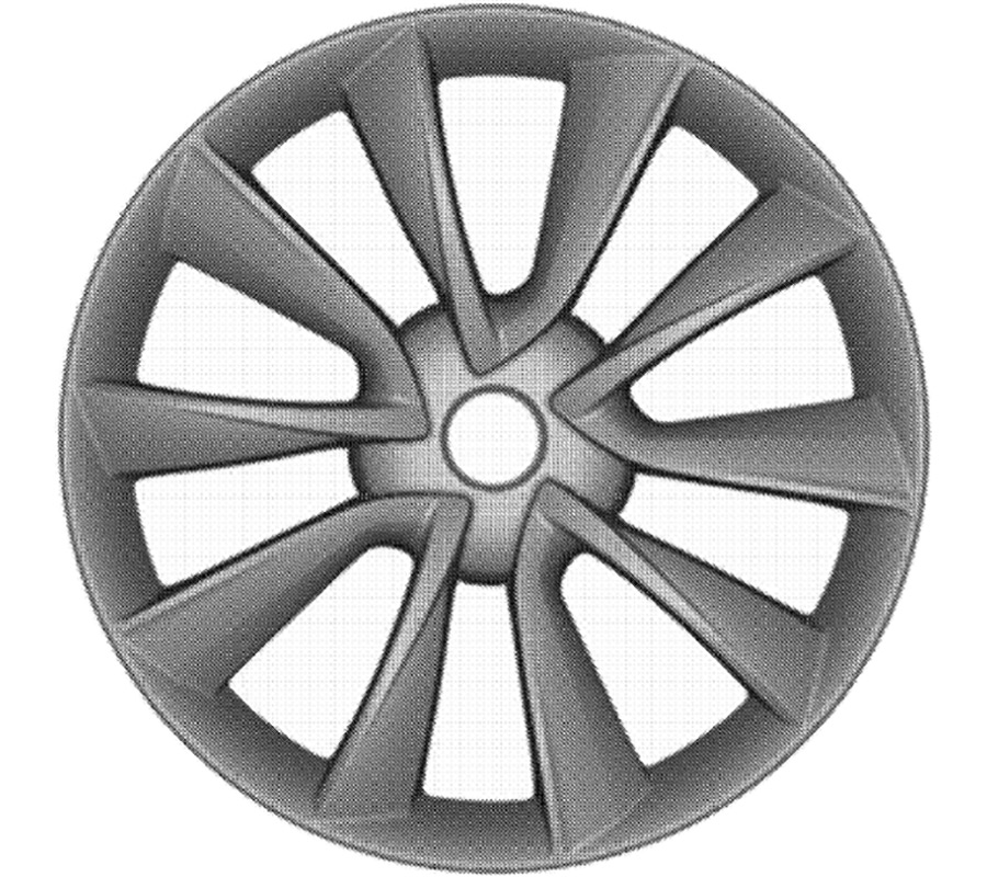 Tesla Model 3 V-Spoke Wheel Design Submitted For Patent By Tesla Motors, Inc.