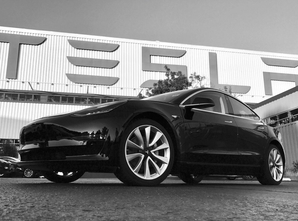 First photo of the first production Tesla Model 3
