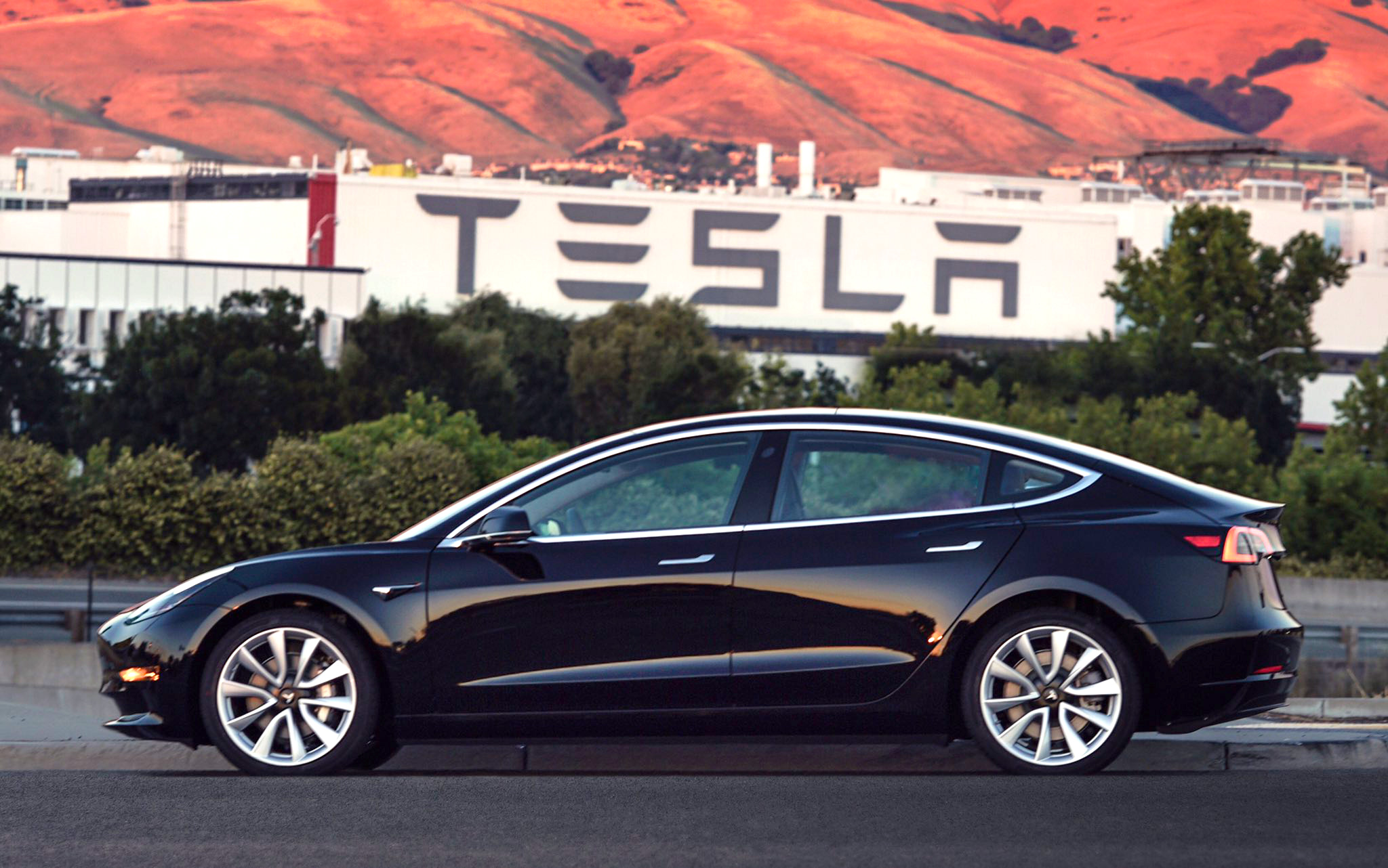 2nd photo of the first production Tesla Model 3