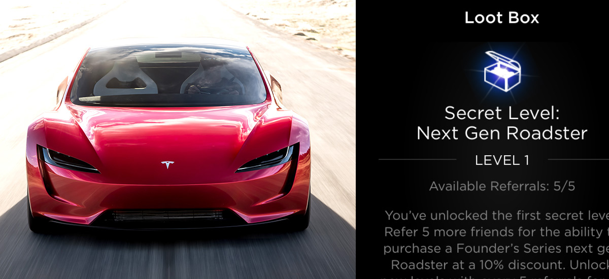 Chance to win next gen Tesla Roadster through the referral program