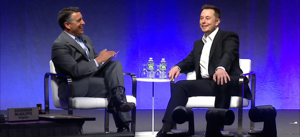Elon Musk with Governor Sandoval at NGA 2017 Summer Meeting