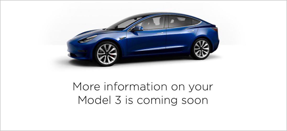 Tesla Model 3 online configurator live soon