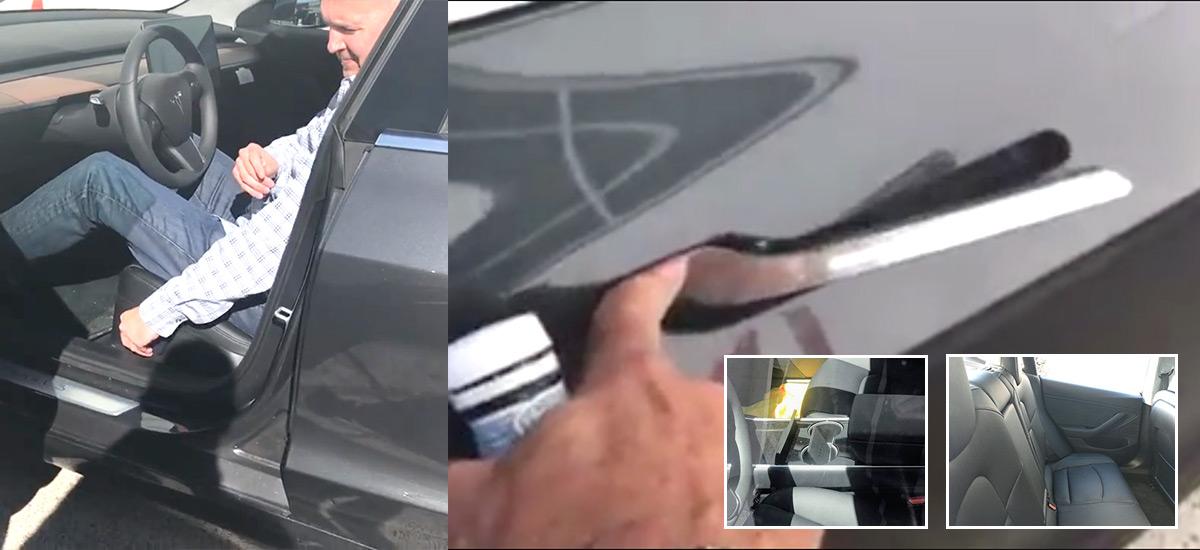 Tesla Model 3 Power Seats, Key Card, Door Handles, Rear Seat Photo