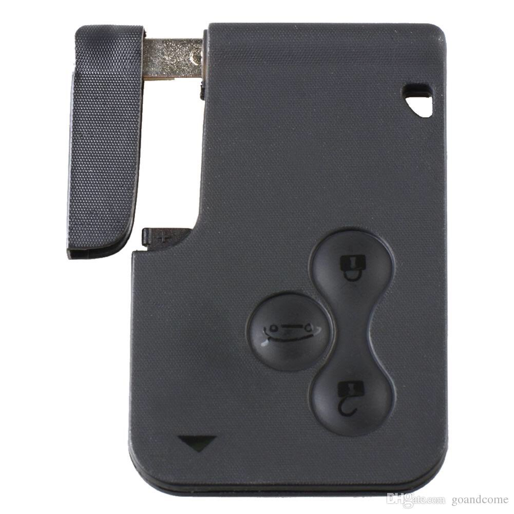 A key card for cars with multi function buttons.