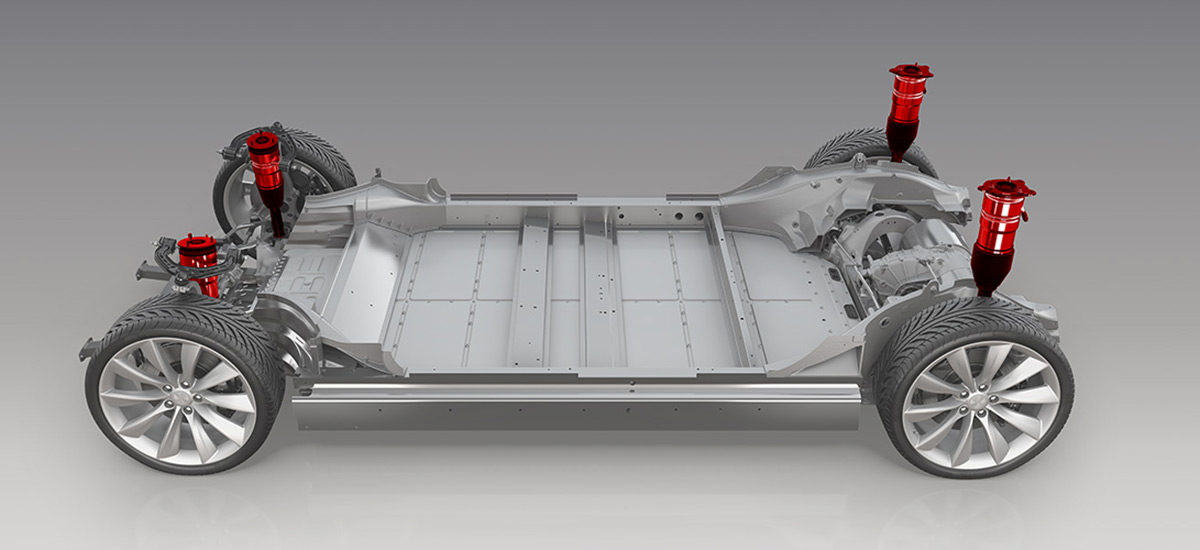 Tesla Model S - Smart Air Suspension diagram