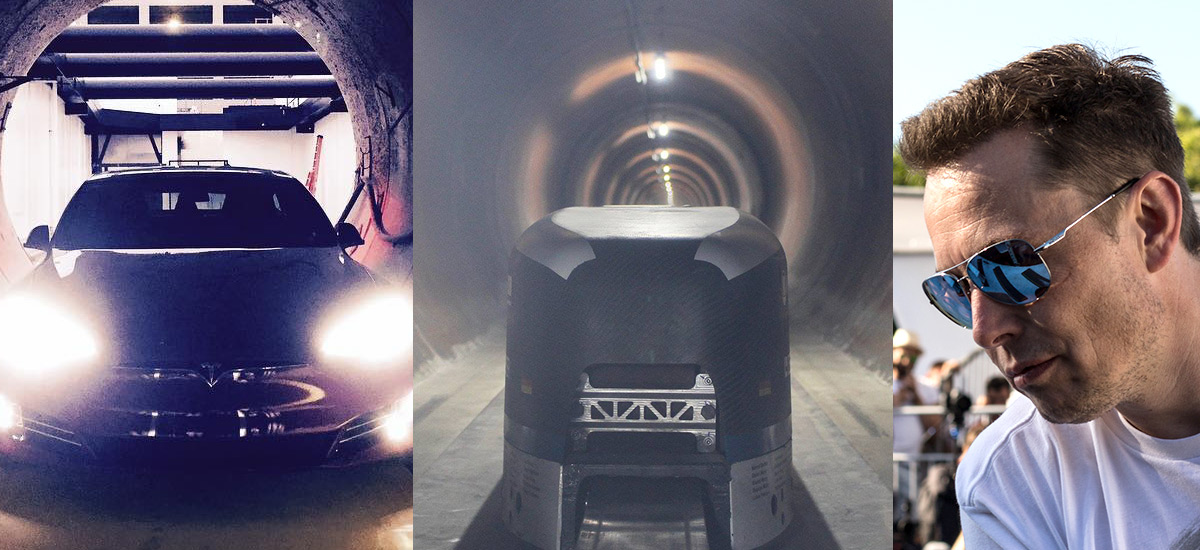 Pods and cars tested in Hyperloop tunnels