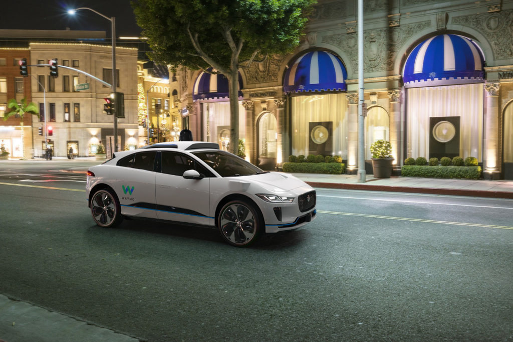 Waymo's Self Driving Jaguar I-Pace - Front View