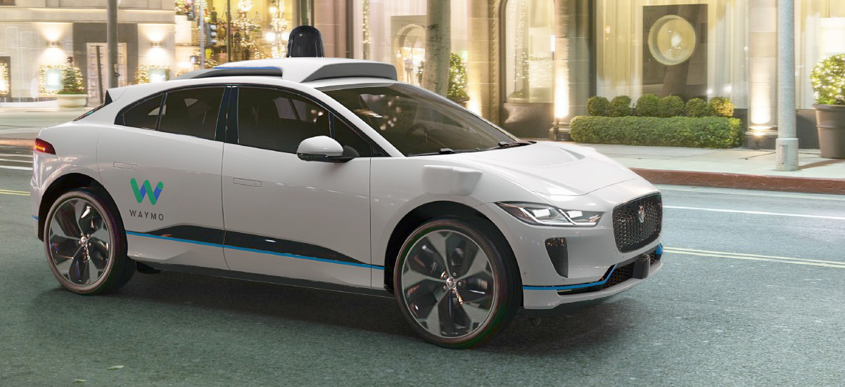 Waymo's Self Driving Jaguar I-Pace