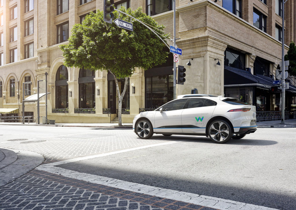 Waymo's Self Driving Jaguar I-Pace - Rear View