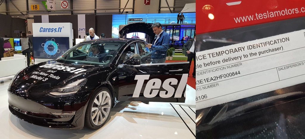 Tesla Model 3 Geneva Motor Show