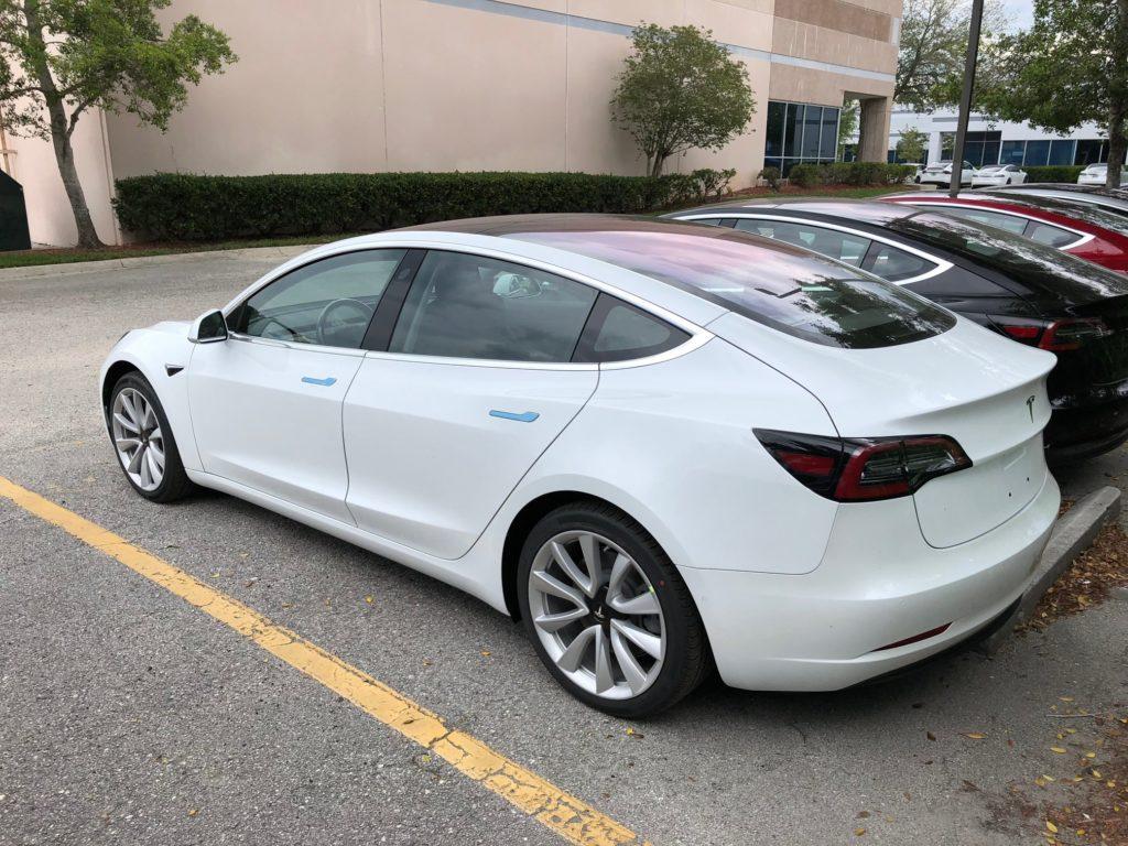 Tesla Model 3 stock at Jacksonville, FL store